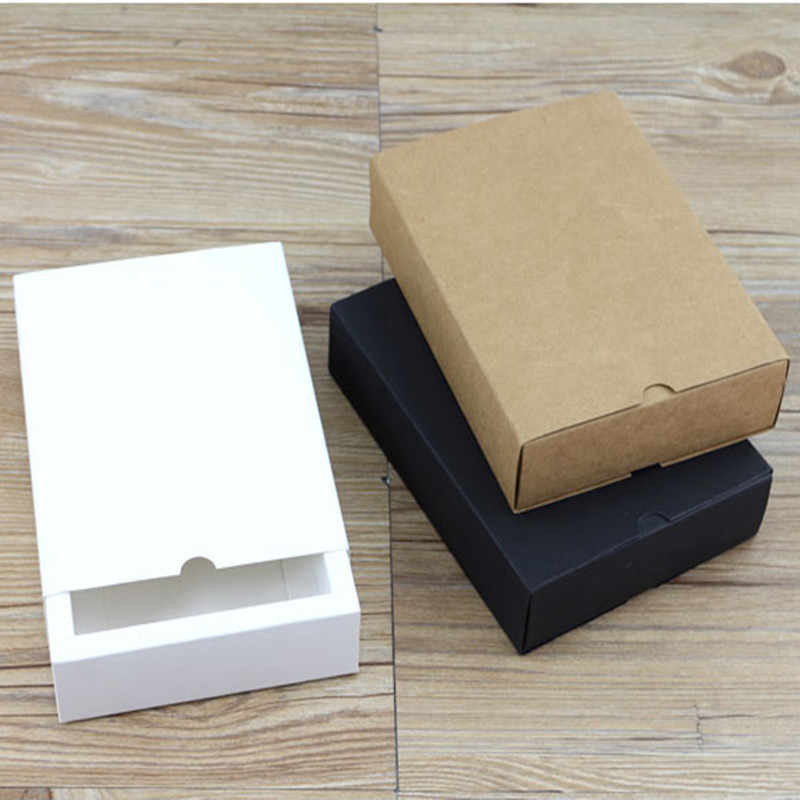 Sizes Kraft Black White Paper Box Blank Paper Gift Packaging Box Cardboard Box With Lid Gift Large Carton Boxes accept print