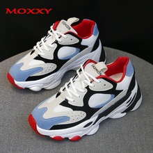 2019 New Fashion Dad Sneakers Platform Chunky Woman Shoes Blue Black Femme Sport Trainers Casual Women