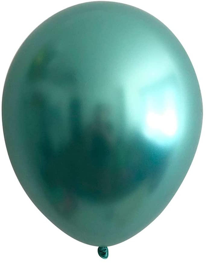 Green Jungle Glam \u2013 Gold Navy Luxe Chrome Balloon Bouquet 9 Pack PL060