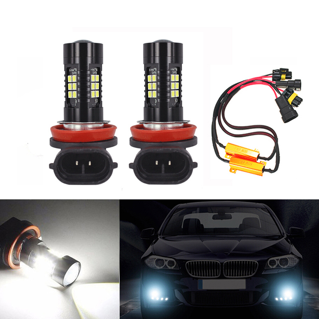 2x H8 H11 LED Fog Light Driving Bulbs No Error For BMW 3/5-Series 328i 335i E39 525 530 535 E46 E61 E90 E92 E93 F10 X3 F25