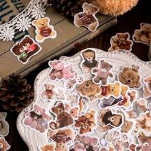 45 шт/упак kawaii cute bear стикер с изображением куклы бумажные