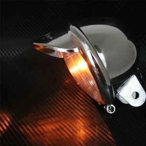 Image 5 - Fendinebbia universale per moto 12V cromato 2 pezzi faro visiera faro ABS per Harley Touing Dyna Sportser Softail per Honda