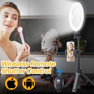 Image 3 - VIJIM 8 pollici 20cm Selfie Ring Light con treppiede supporto per telefono anello lampada scrivania LED Ringlight per Youtube Vlog Makeup