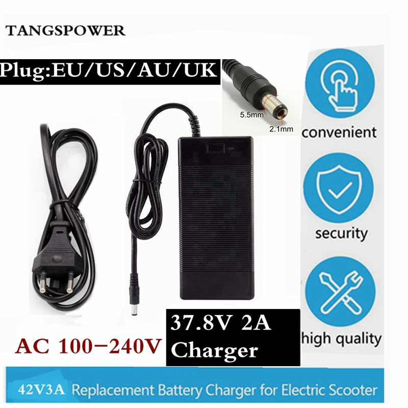 37.8V 2A Lead Acid Battery Charger / Accumulator Charger / Power / AC Adapter for Power Tool Adapter