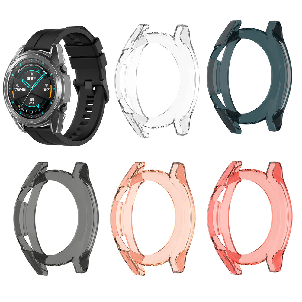Transparent Watch Cover Case For HUAWEI Watch GT /GT 2 42mm 46mm Smartwatch Screen Anti-Scratch Protector Protective Case