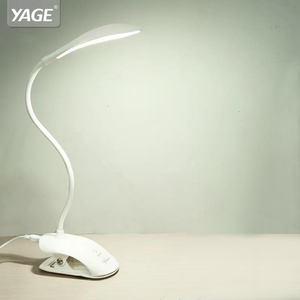 YAGE YG-5933 Desk lamp USB led Table Lamp 14 LED Table lamp with Clip Bed Reading book Light LED Desk lamp Table Touch 3 Modes(China)