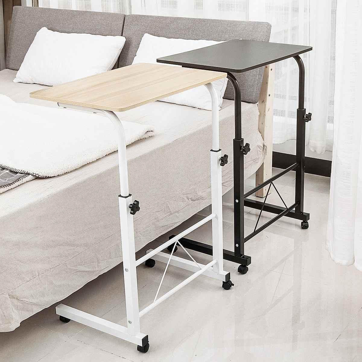 Foldable Computer Desk Table Adjustable Portable Laptop Desk Rolling Laptop Table Bedside Sofa Standing Home Office Furniture