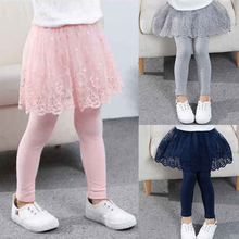 Baby Leggings Skirt Trousers Girls Cotton Princess Children Lace Autumn for Kids Slim