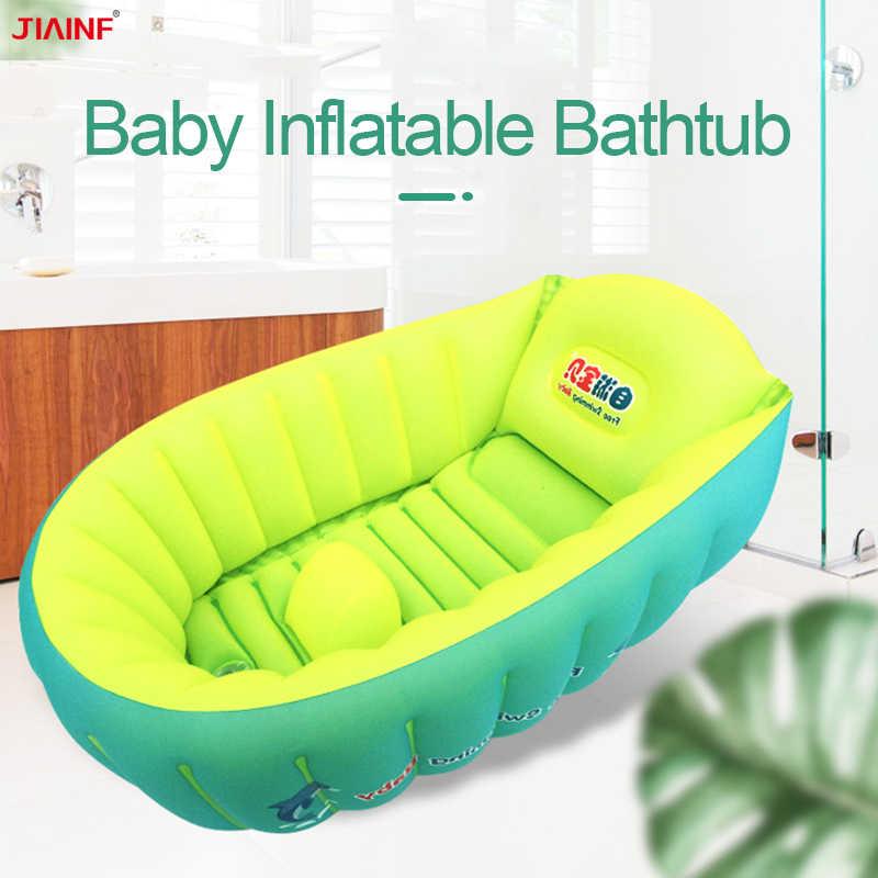2019 新大型ベビーインフレータブル浴槽ポータブル折りたたみシャワー浴槽新生児バスタブ子供幼児児童洗浄水泳プール