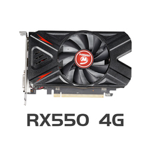 Veineda RX550 4Gb Grafische Kaarten GDDR5 128bit Gpu Voor Amd Radeon Rx 550 Serie Videokaart Desktop Pc Video gaming