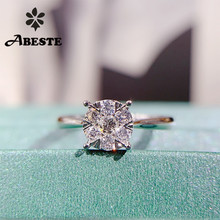 ANI 18K White Gold (AU750) Wedding Ring 0.30 CT Gold Rings anillos mujer Luxury  Design Real Natural Diamond Ring for Women