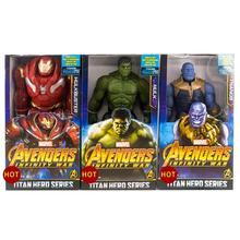 Figurka Avengers Marvel 30CM czarna pantera Iron Man Hulk kapitan ameryka Thor Thanos chłopiec prezent tanie tanio Disney Model CN (pochodzenie) Unisex No fire Remastered version 0-12 miesięcy 13-24 miesięcy 2-4 lat 5-7 lat 8-11 lat