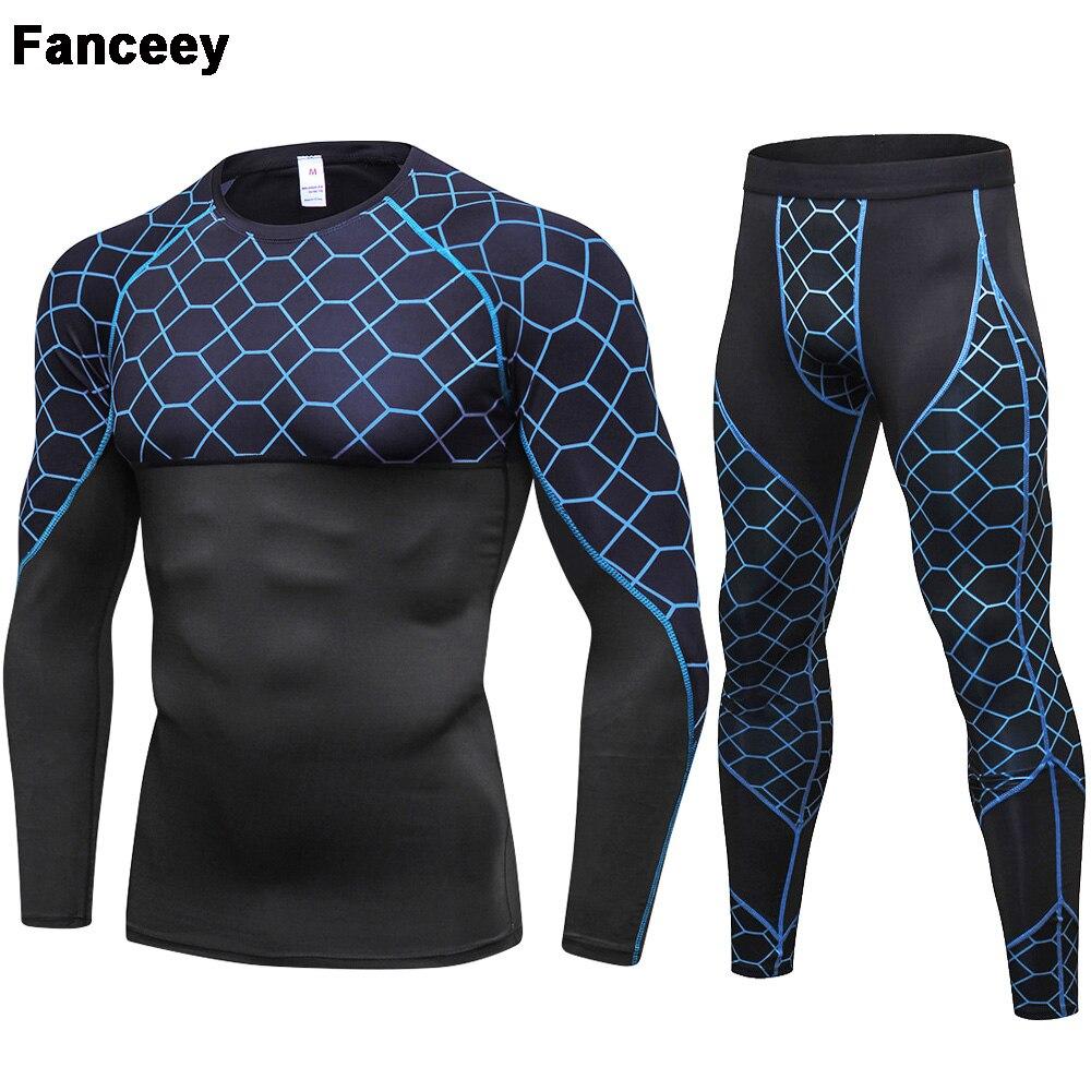 Fanceey Long Johns Winter Thermal Underwear Men Quick Dry Stretch Thermal Underwear For Men Warm Fitness Compression Underwear