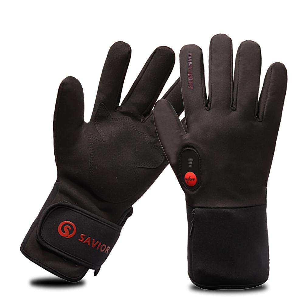 Heated Ski Gloves Liner For Unisex Waterproof Design With Rechargeable Battery Electric Gloves For Winter Sports
