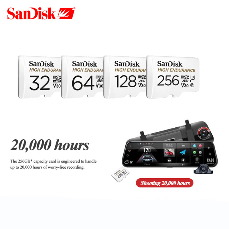 New Product SanDisk ENDURANCE Micro SD Card 32g 64g Micro SD Memory Card 128g Class10 U3 V30 Micro SDHC/SDXC Flash Card 4K HD