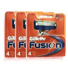 Original Gillette Fusion Men 5 Layer Replacement Refills Razor Blade Refills Face Care Brands Manual Shaving Blades 12pcs/BOX