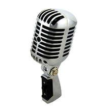 RISE-profesional con cable Vintage clásico mi crophone buena calidad Dyna mi c bobina móvil mi ke Deluxe Metal voz estilo antiguo Ktv mi c mi