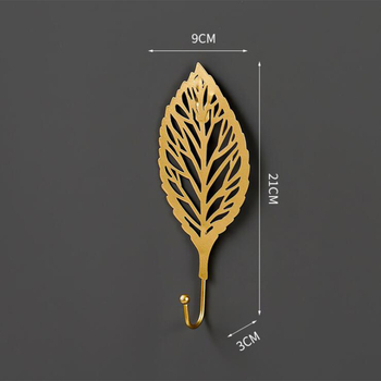 Leaves Shape Iron Hook Nordic Wall Decoration Leaf Key Watch Bags Jewelry Haning Hook Mutifuctional Wall Hanger Rack 10