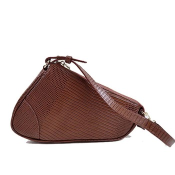 women genuine leather D shape desiger shoulder bag saddle bag lady crossbody bag purse for girl