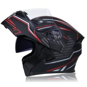 Image 4 - DOT ECE JIEKAI casques de moto, Flip up, pour course de sécurité, pour Motocross, Quad Dirt, 902, nouveau, casque de vélo