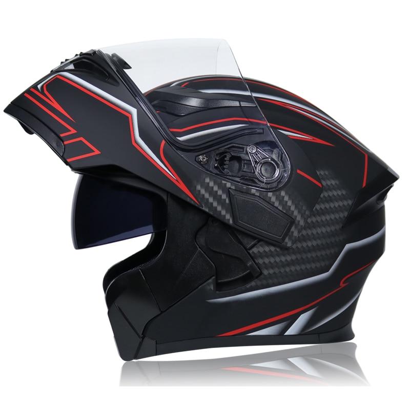 Image 4 - NEW DOT ECE JIEKAI 902 Motorcycle Flip up Winter helmets Safety Racing Motocross Capacete Quad Dirt Bike helmet-in Helmets from Automobiles & Motorcycles