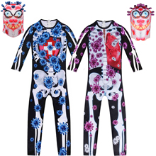 Geek Costume Jumpsuit Movie Cosplay Virus Outfits Merry-Christmas Funny Kids Xmas Cover