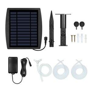Fuente de alimentación Solar piscina pecera Bomba de aire, de oxígeno al aire libre pecera fabricante de flujo de aire