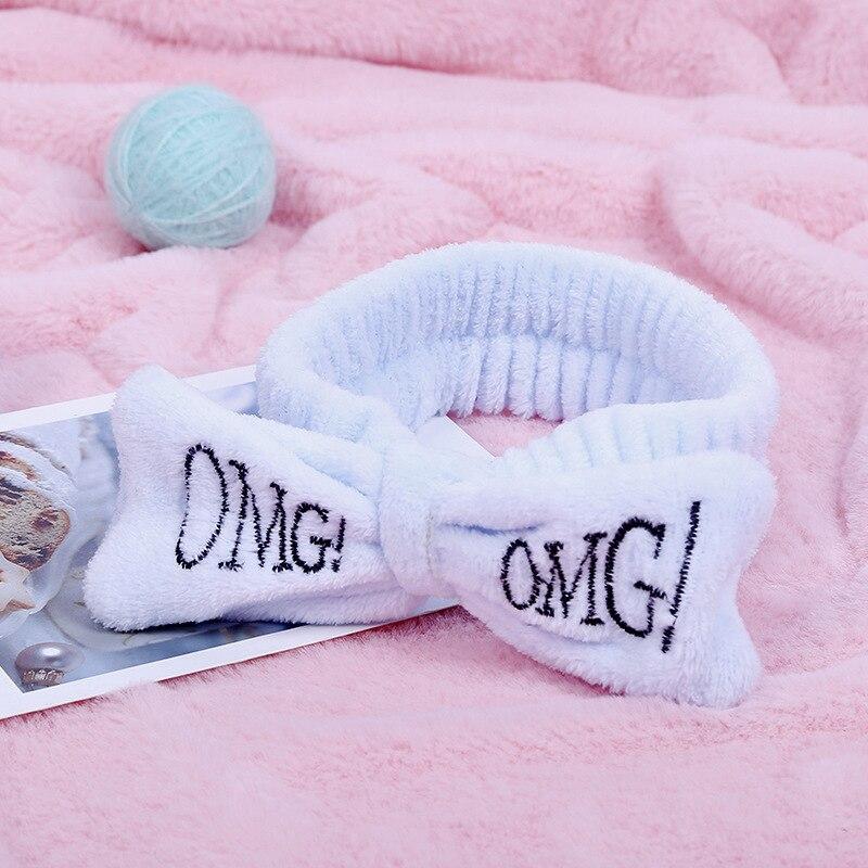 Calymel Women Head Wrap Soft Coral Fleece Makeup Headband Washing Face Turban Bow Hairband Hair Turban Dropshipping