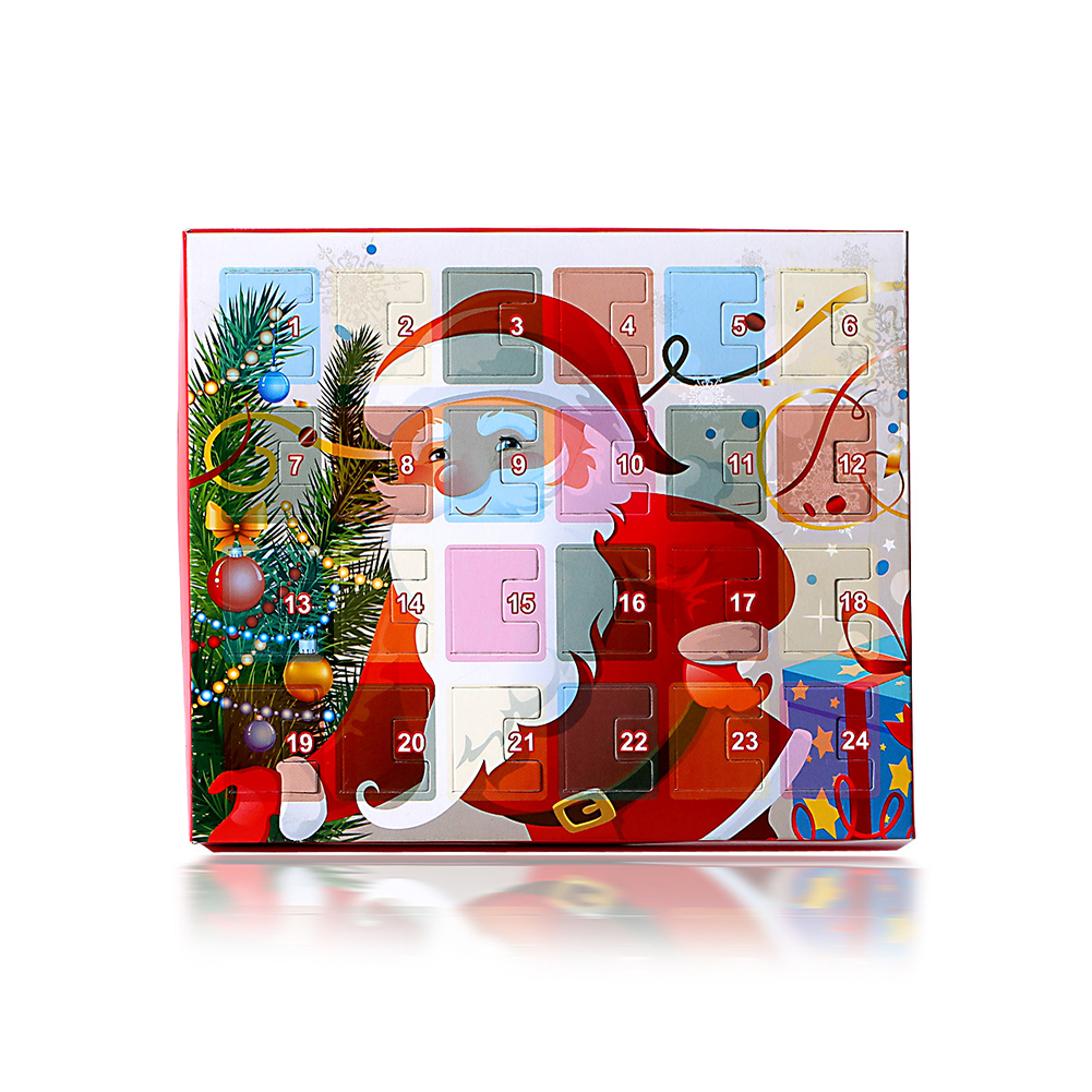 Christmas Advent Calendar Snowman Children's Gift Calendar Box With Fashion Bracelet Jewelry Diy Charms Set For Kids thumbnail