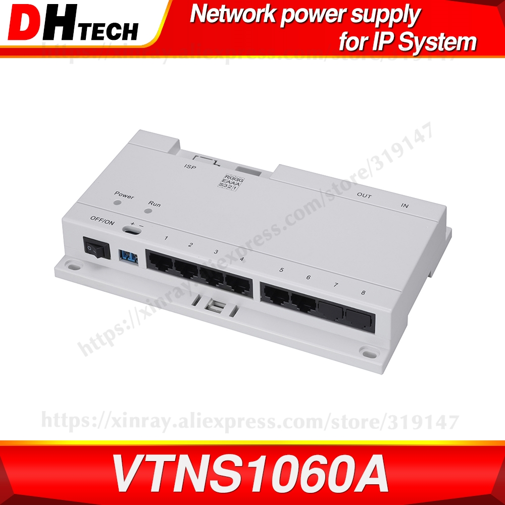 Dahua Original VTNS1060A Video Intercom POE Switch For IP System VTO2000A Connect Max 6 Indoor Monitors