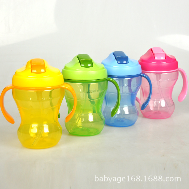 New Style Leak-Proof Infants Sippy Cup Infant Kettle Cup With Straw PP Material Excluded BPA CHILDREN'S Kettle 260 Ml