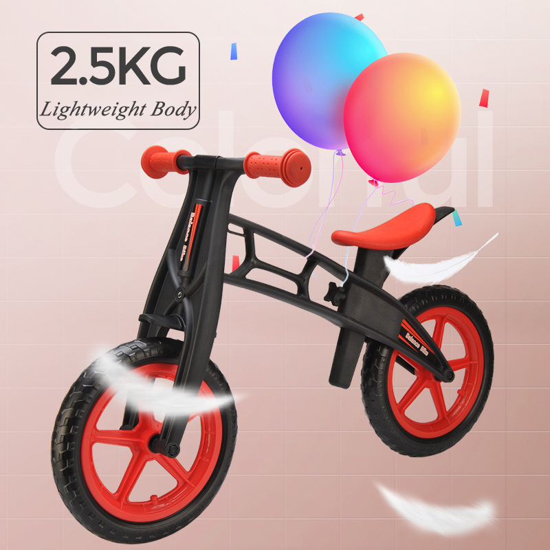 Oyuncaklar ve Hobi Ürünleri'ten Sürülebilir Araçlar'de Bebek Shining Iki Tekerlek Denge Bisikleti 4 6 Yaşında Çocuk Yürüteç 12 Inç Sürme Bisiklet Yüksekliği Ayarlanabilir Çocuklar scooter'da  Grup 2
