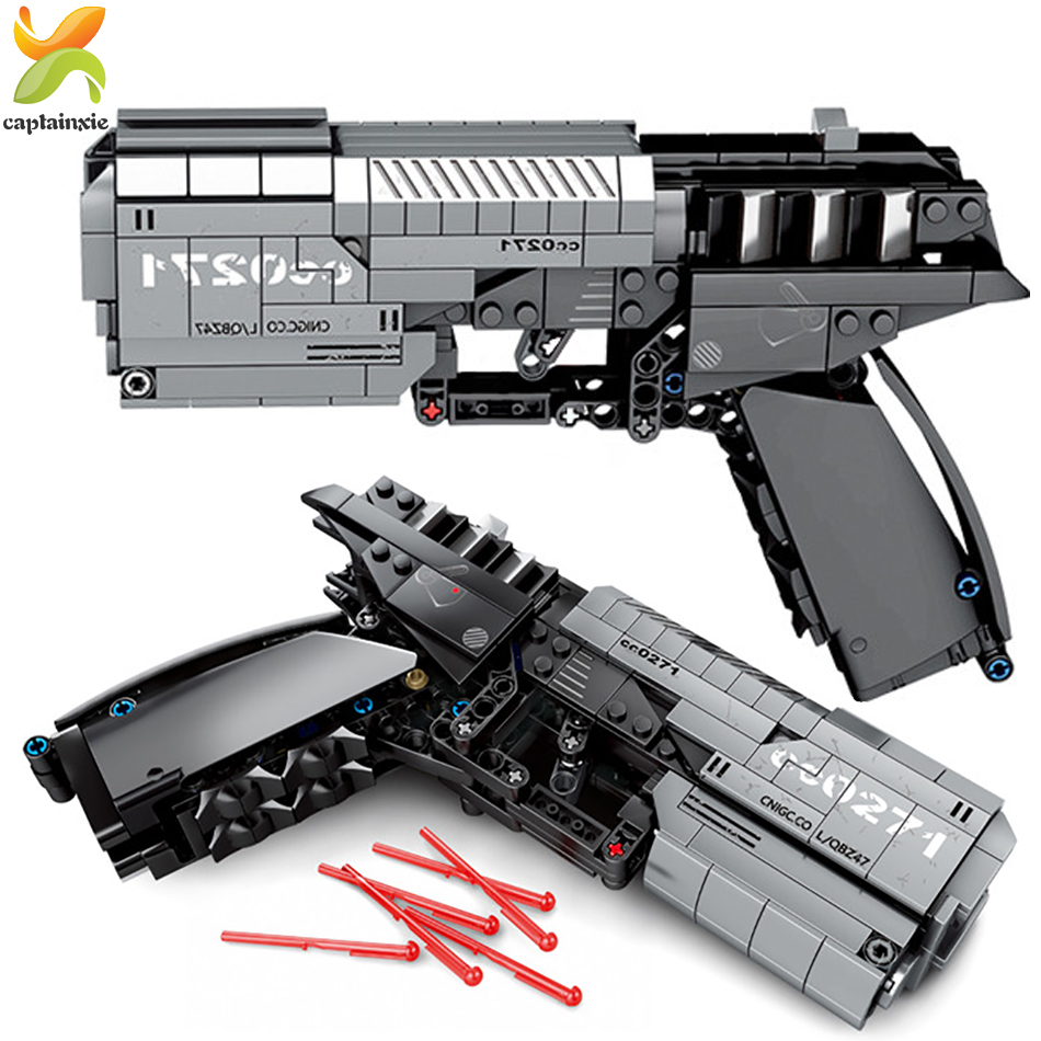 431pcs Technic Shooting Signal Game Gun Model Building Blocks Legoings Weapon City DIY Educational Bricks Toys For Children Gift