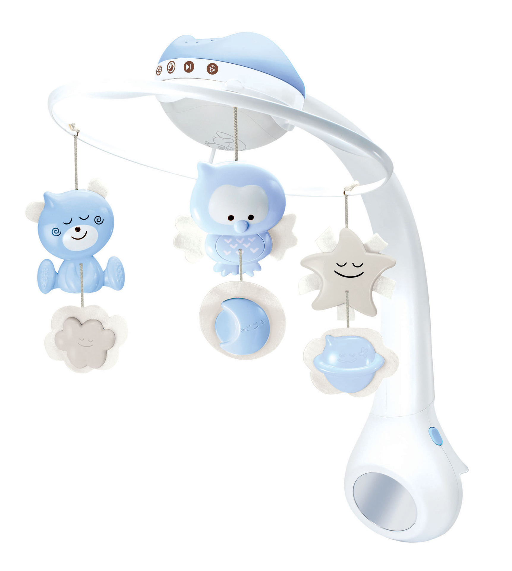 America Infantino Infant Star Projection Three-in-One Dreamy Bed Bell Music Box Pacify Sleep Projection Lamp