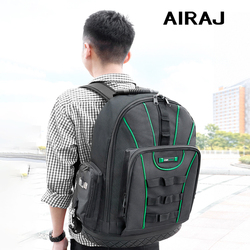 AIRAJ Многофункциональный рюкзак для инструментов 1680D водонепроницаемая и износостойкая сумка для хранения инструментов для электрика/дерев...