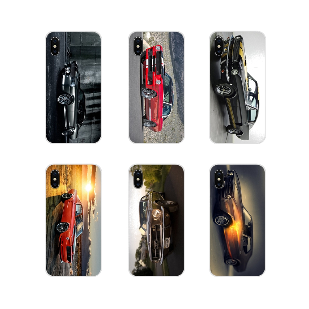 For Samsung Galaxy S3 S4 S5 Mini S6 S7 Edge S8 S9 S10 Lite Plus Note 4 5 8 9 Ford Mustang 1966 Super Car 4K Wallpaper Soft Cover