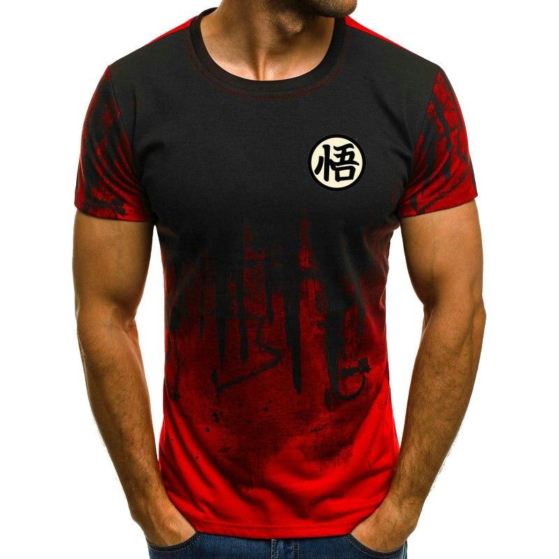 New Cotton Funny T Shirts Dragon Ball Z T-shirt Men Dragon Ball Print Son Goku Goku  Fashion T Shirt Men Tops Tee Tshirt