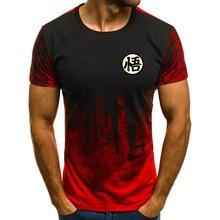 Nieuwe Katoenen Grappige t shirts Dragon Ball Z T shirt Mannen Dragon Ball Print Zoon goku Goku Mode t shirt Mannen tops t stuk