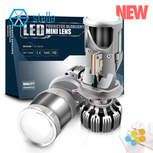 Stella projecteur dobjectif pour auto et moto, feux de croisement et haute faisceau H4 led, ampoules, lampes pour voiture, 12V, 72W, 8000lm, 5500K lumière LED