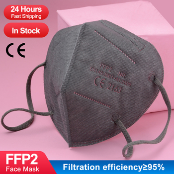 ffp2 face mask KN95 Gray masks surface marked with CE FFP2 Daily  Protective dustproof adult gray 95% Filter mouth masks ffp2 300pcs mascarilla ffp2 kn95 mouth mask 5 layers anti droplets protective kn95 face masks reusable filter ffp2mask ce