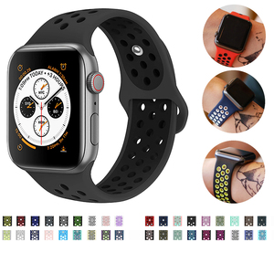 Band for Apple Watch 5 4 3 2 40mm 44mm 42MM 38MM soft Breathable strap Silicone Sports bands for Nike+ Iwatch series(China)