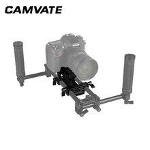 CAMVATE العالمي Manfrotto الإفراج السريع لوحة ربط محول مع المزدوج 15 مللي متر قضيب المشبك ل DSLR كاميرا الكتف دعم نظام