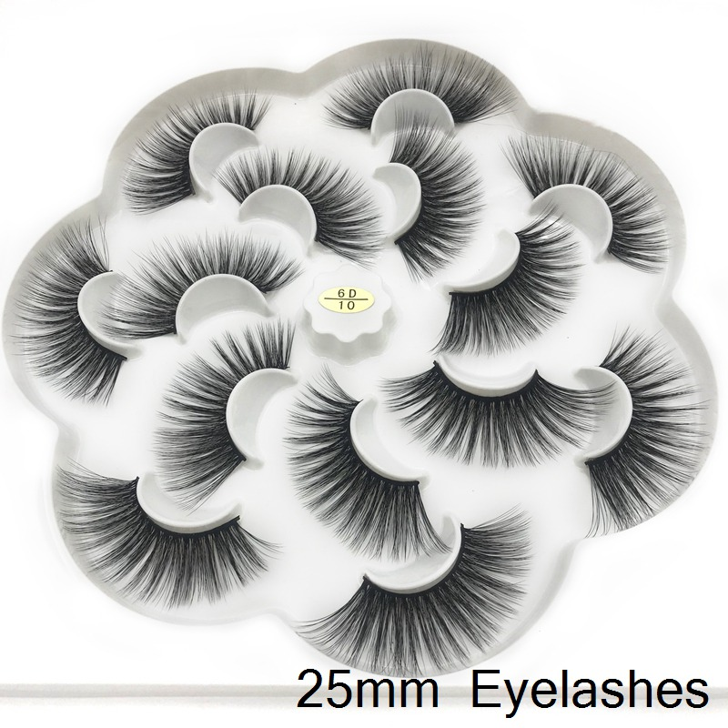 ICQUEEN 7 Pairs Faux mink individual eyelash lashes maquiagem cilios for professionals soft mink eyelash extension