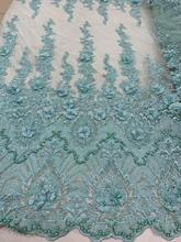 Супер качество французский чистая кружевная ткань с бусинами для платья партии JIANXI.C 209812 вышитая кружевная ткань