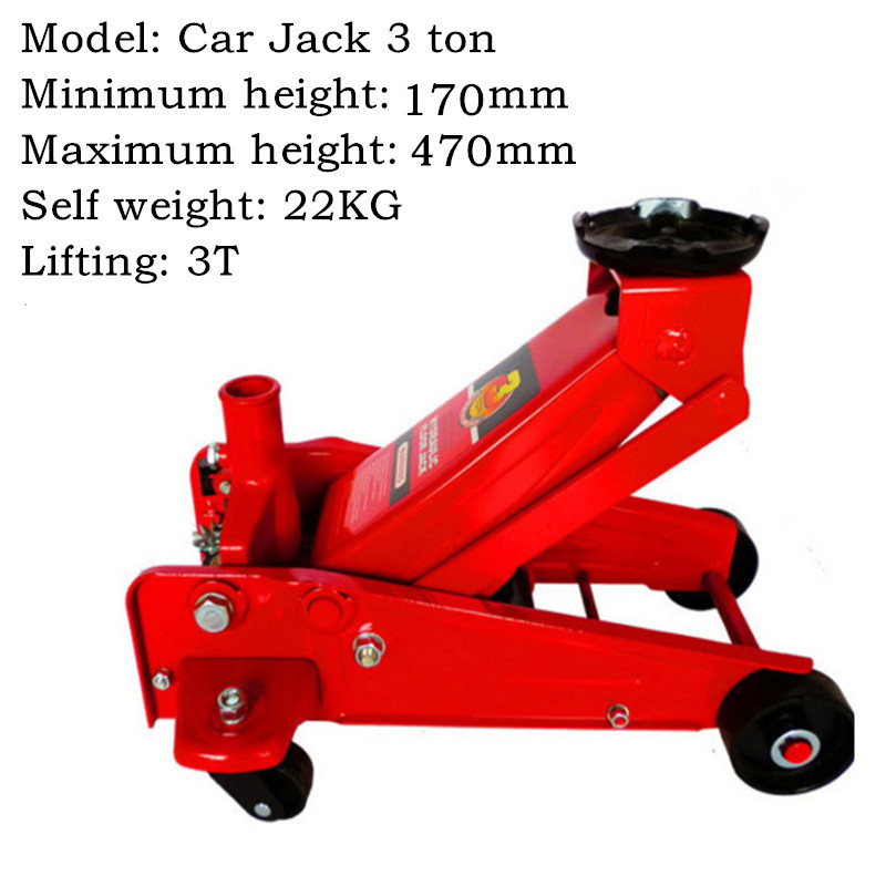 Car Jack 3 Ton Horizontal Jack Hydraulic Jack Car Jack Auto Repair Jack