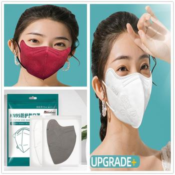 Reusable KN95 FFP2 Mask Valved Face Mask Respirator  Face Mask  Protection Anti-Dust Mask Face Protective