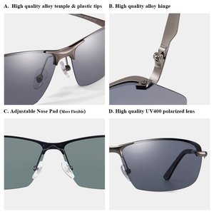 Image 5 - PARZIN חדש גברים של Photochromic מקוטב משקפי שמש באיכות גבוהה מתכת מחצית מסגרת אופנה נגד בוהק משקפיים נהיגה משקפי שמש