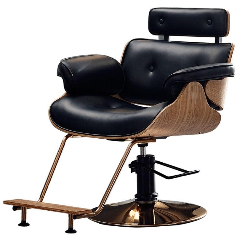 High-end Barber Chair Hairdressing Salon Hair Salon Special Barber Shop Chair Net Red Haircut Chair Modern Minimalist Work Chair