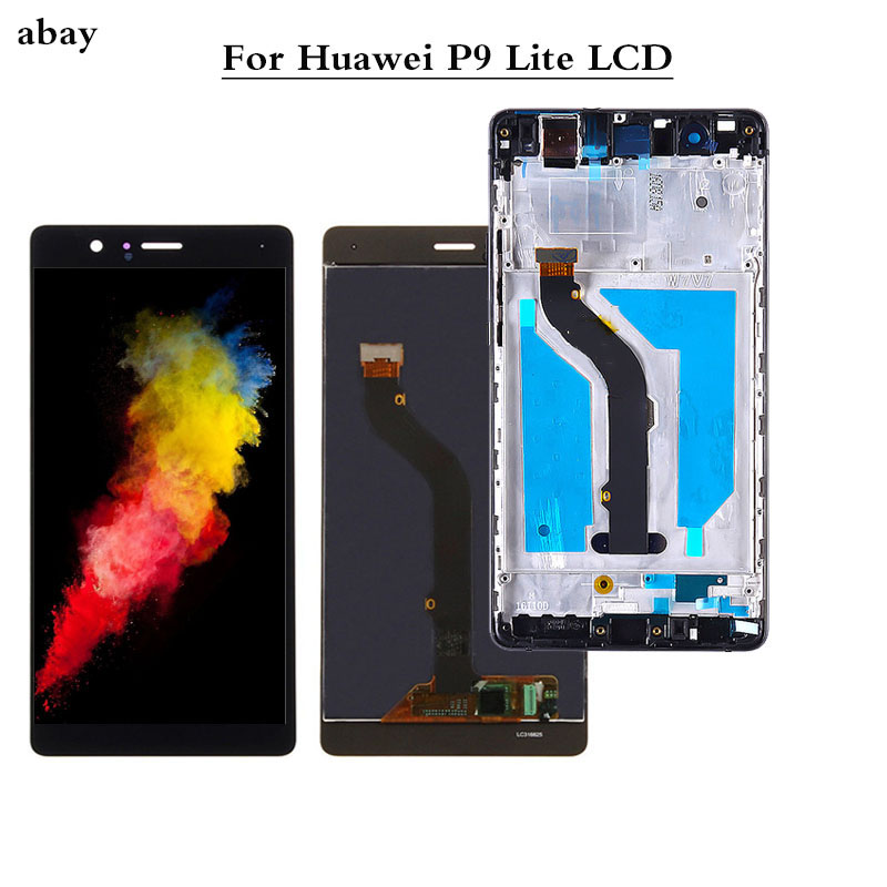 5.2'' Display For HUAWEI P9 Lite 2016 G9 Display Screen With Frame For HUAWEI P9 Lite LCD Display VNS-L31 L21 L19 L23 L53 Parts