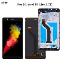 5.2 wyświetlacz dla HUAWEI P9 Lite 2016 G9 ekran z ramką dla HUAWEI P9 Lite wyświetlacz LCD VNS L31 L21 L19 L23 L53 części